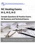 NC Heating Exam Prep H-1, H-2, H-3 Sample Test Questions and Practice Exams (based on 2018 NC Codes)
