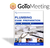 NC Plumbing Exam Prep Course - One Day - GoToMeeting - $295.00